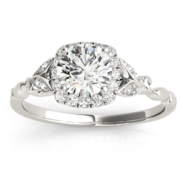 Butterfly Halo Diamond Engagement Ring Platinum (0.14ct)