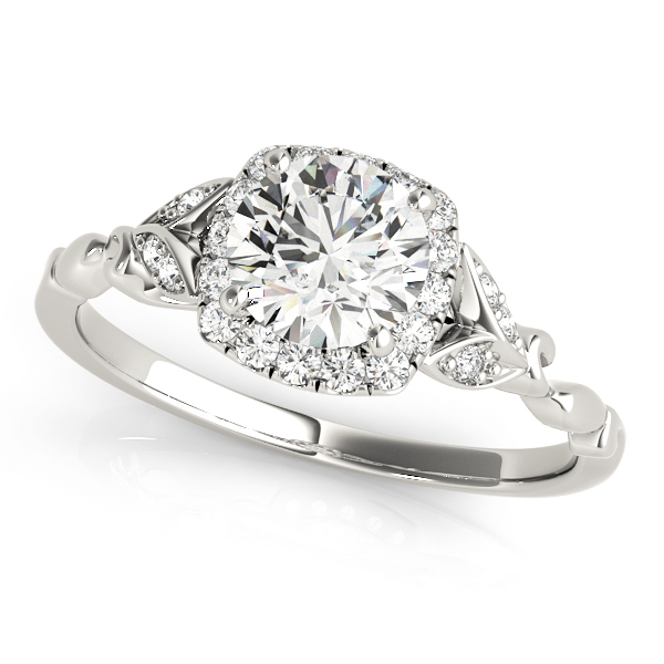 Diamond Antique Style Bridal Set Palladium (0.89ct)