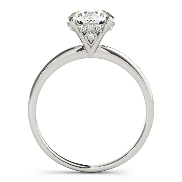 Diamond Solitaire Engagement Ring 14k White Gold (1.07ct)
