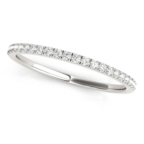 Diamond Prong Wedding Band 14k White Gold (0.13ct)