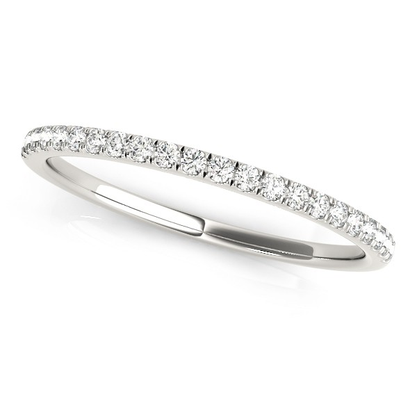 Diamond Prong Wedding Band Palladium (0.13ct)