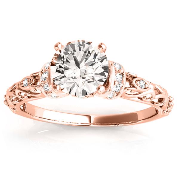 Engagement Ring Setting 14k Rose Gold