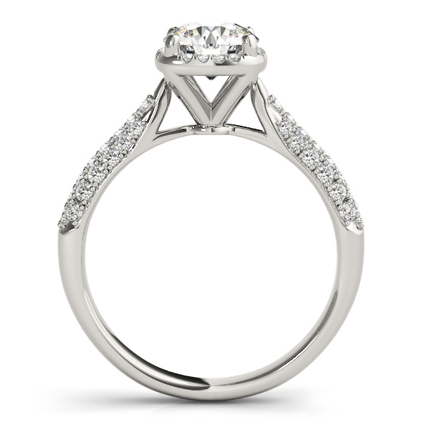 Round Cut Square Halo Pave Diamond Engagement Ring Palladium 2 33ct