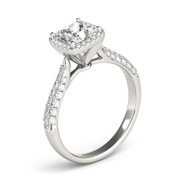 princesscut halo pave diamond engagement ring platinum 2