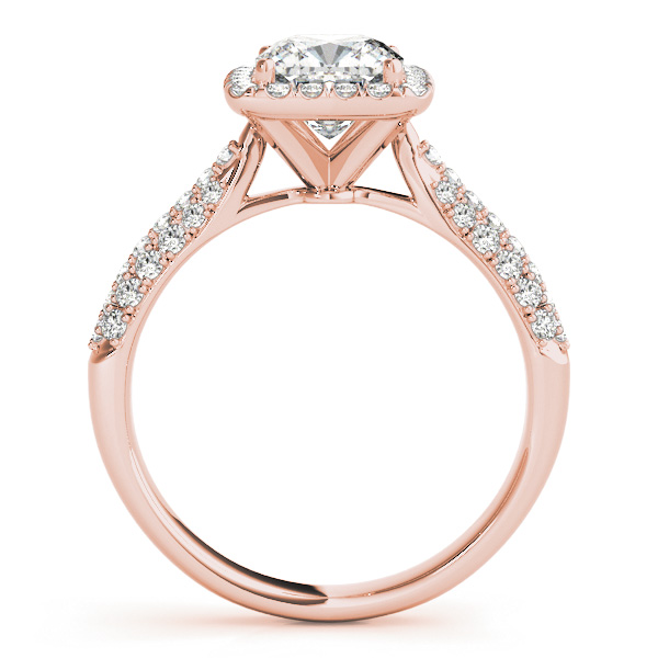Cushion Cut Diamond Halo Engagement Ring 14k Rose Gold 2 33ct