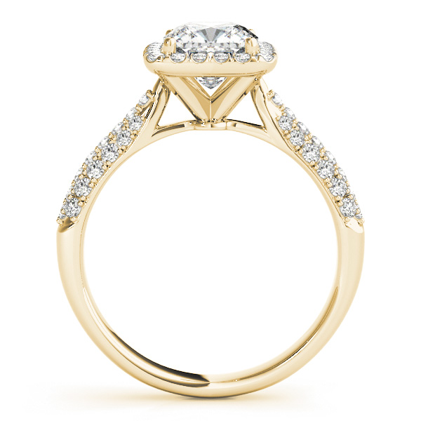 Cushion Cut Diamond Halo Engagement Ring 14k Yellow Gold 2 33ct