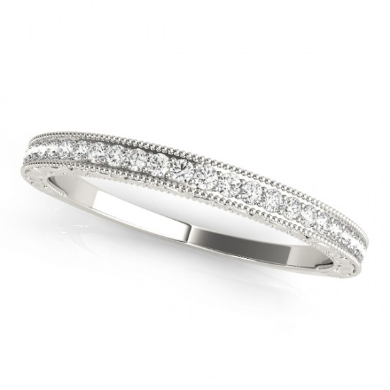 Diamond Prong Wedding Band Ring Platinum (0.10ct)