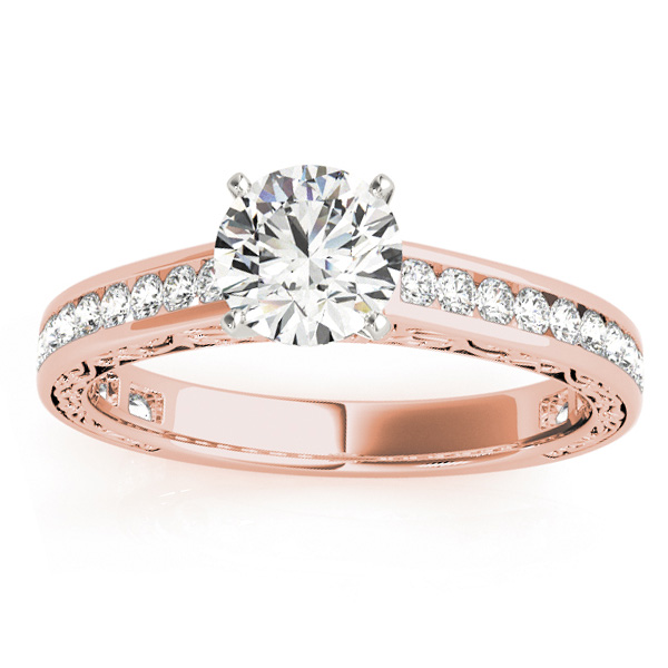 Diamond Channel Set Engagement Ring 14k Rose Gold (0.42ct)