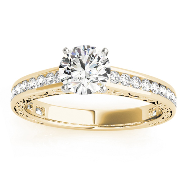 Diamond Channel Set Engagement Ring 14k Yellow Gold (0.42ct)