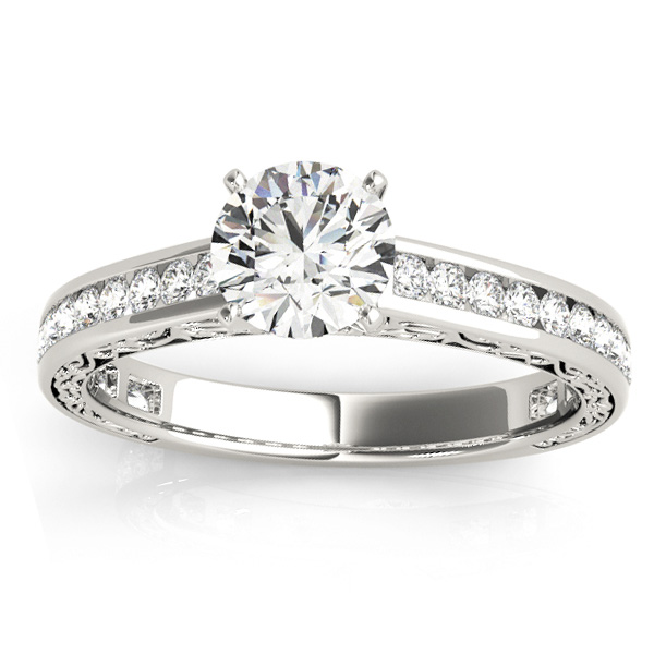 Diamond Channel Set Engagement Ring Platinum (0.42ct)