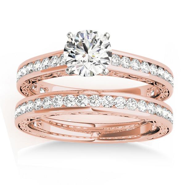 Diamond Twisted  Bridal Set 18k Rose Gold (0.87ct)