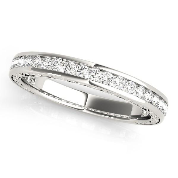 Diamond Channel Set Wedding Band 18k White Gold (0.45ct)