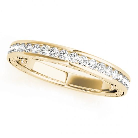 Diamond Channel Set Wedding Band 18k Yellow Gold (0.45ct)