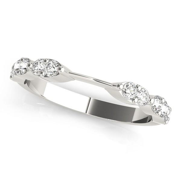 Diamond Prong Wedding Band 18k White Gold (0.42ct)
