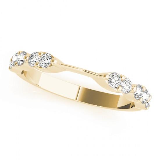 Diamond Prong Wedding Band 18k Yellow Gold (0.42ct)