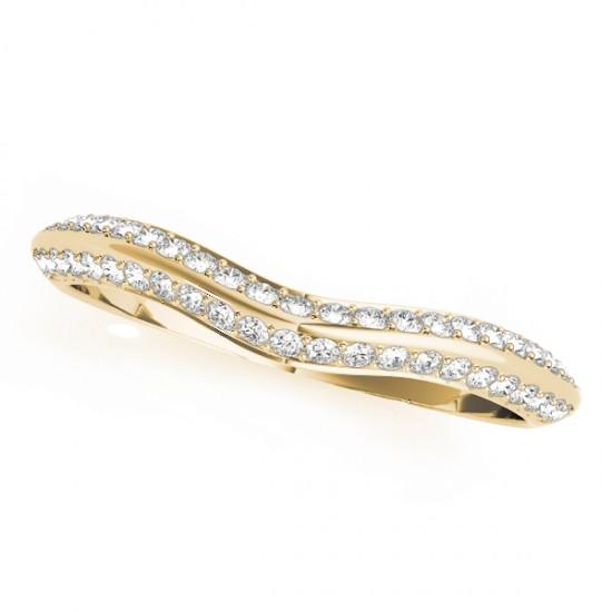 Diamond Contoured Wedding Band 14k Yellow Gold (0.20ct)