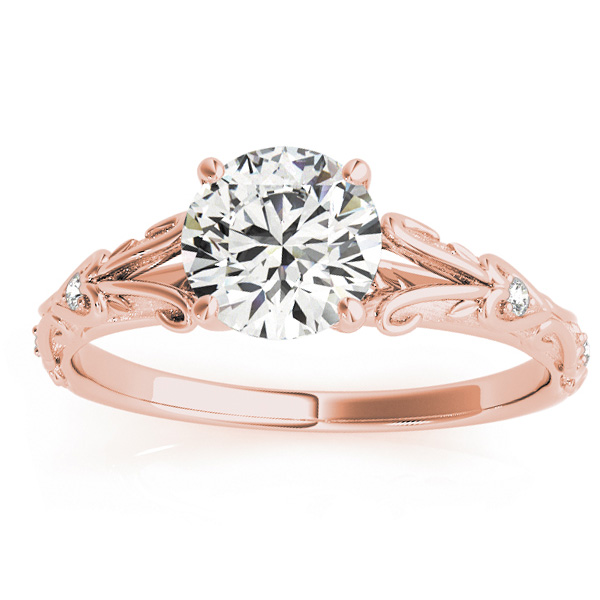 Diamond Antique Style Engagement Ring 18k Rose Gold (0.03ct)