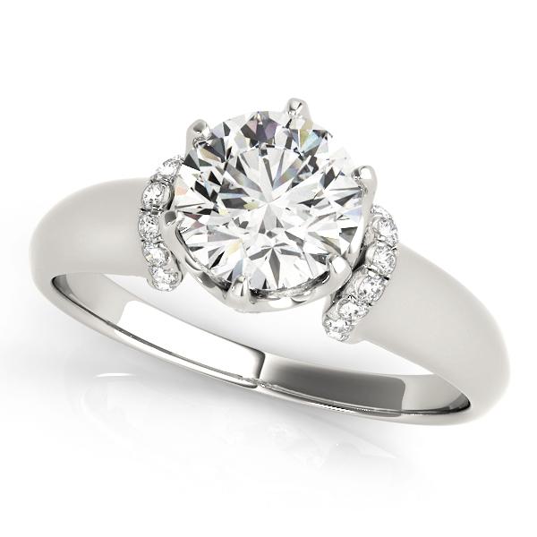 Diamond 6-Prong Solitaire Engagement Ring Palladium (1.15ct)