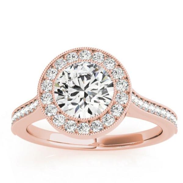 Milgrain Cathedral Engagement Ring Setting 14k Rose Gold (0.33ct)