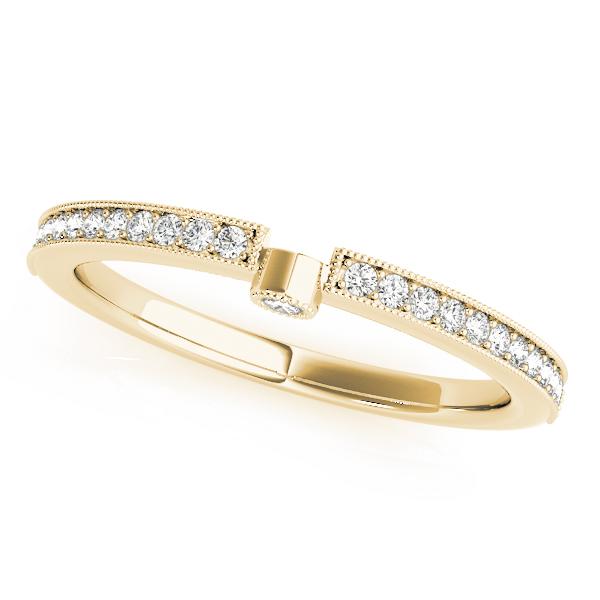 Diamond Semi-Eternity Wedding Ring Band 18k Yellow Gold (0.14ct)