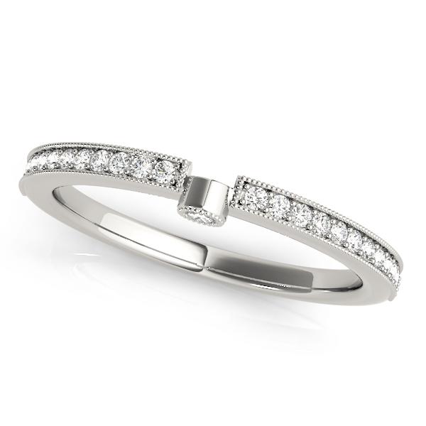 Diamond Semi-Eternity Wedding Ring Band Palladium (0.14ct)