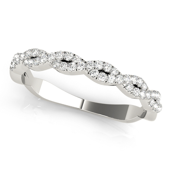 Infinity Diamond Stackable Ring Band Platinum (0.25ct)