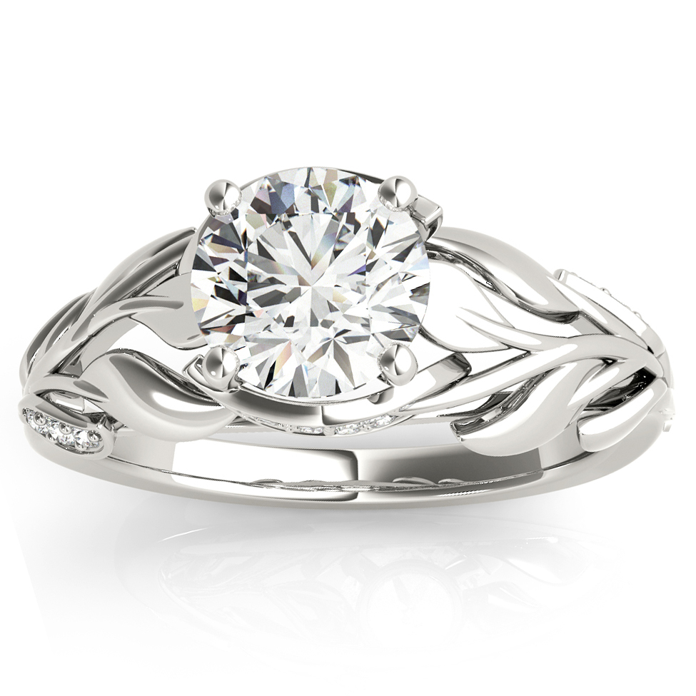 Nature-InspiredDiamond Engagement Ring Setting Platinum (0.16ct)