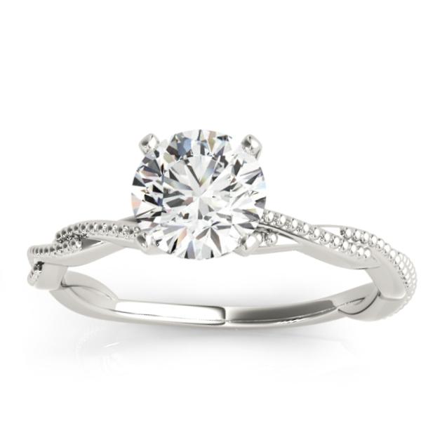 Infinity Platinum: Infinity Solitaire Twist Engagement Ring Setting Platinum