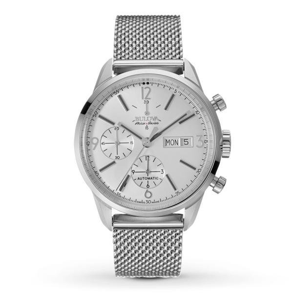 Men's Bulova Watch AccuSwiss Chronograph w/ Stainless Steel Bracelet