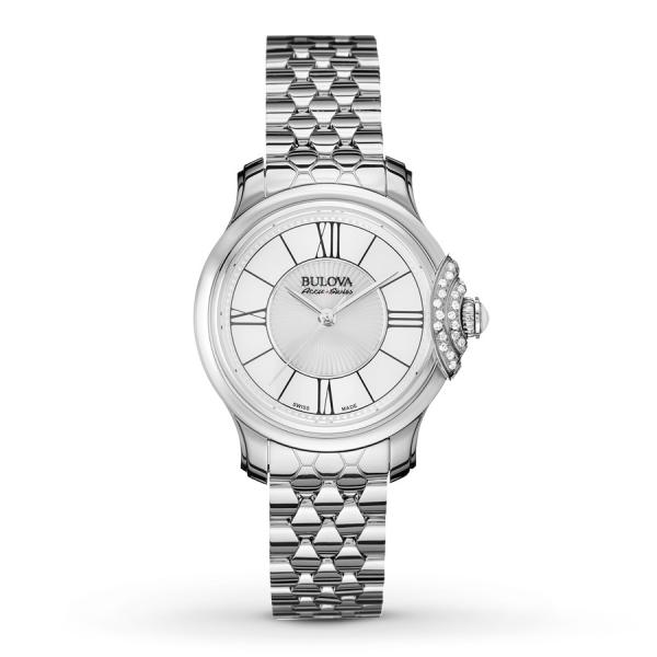 Women's Bulova Watch Stainless Steel AccuSwiss Quartz with Diamonds