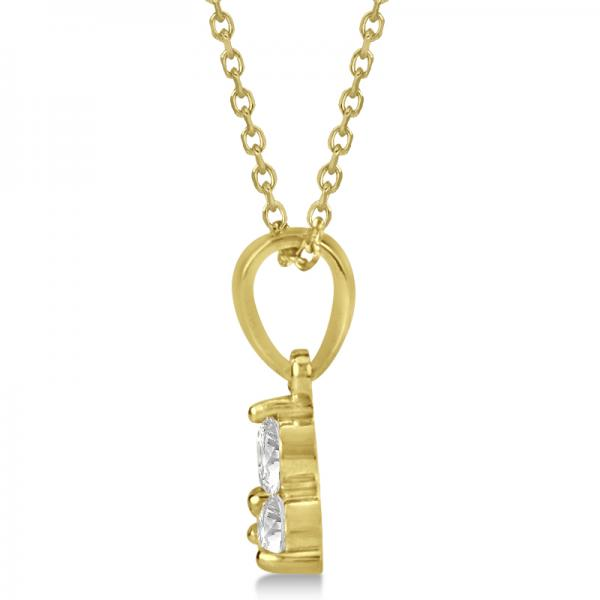 Diamond Three Stone Pendant Necklace in 14k Yellow Gold (0.33ct)