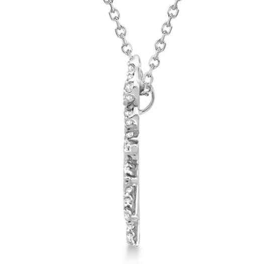 Diamond Sunburst Necklace in 14k White Gold (0.40ct)