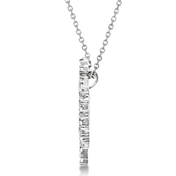 Ladies Diamond Snowflake Pendant & Chain 14k White Gold 0.38ct
