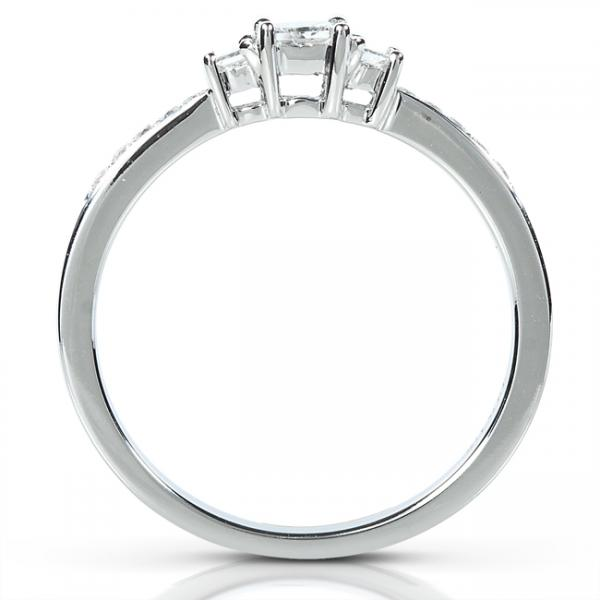 Princess Cut Three-Stone Diamond Ring in 14k White Gold (.33ct)
