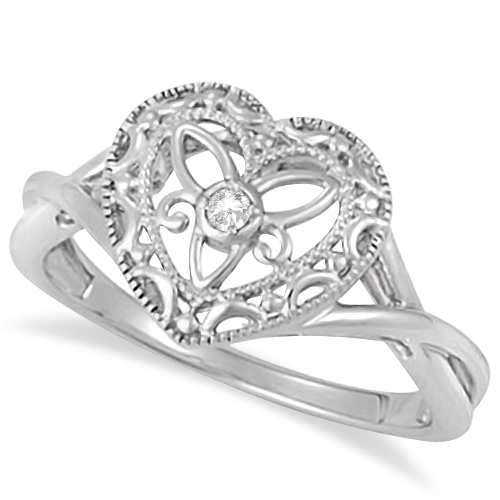 Heart Shaped Promise Rings