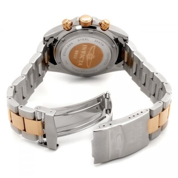 Invicta Men's Black Dial Two Tone Chronograph Speedway Quartz Watch