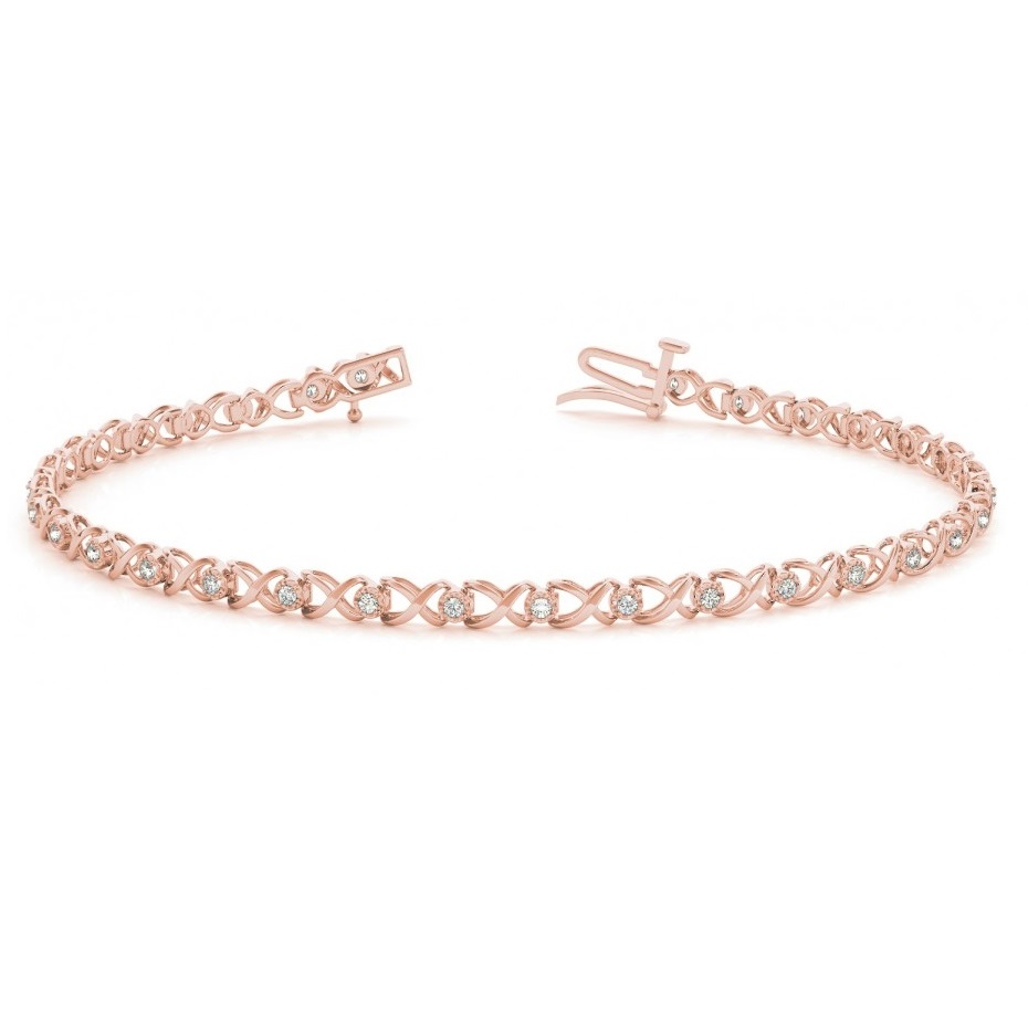 Diamond XOXO Bracelet 14k Rose Gold (0.29ct)