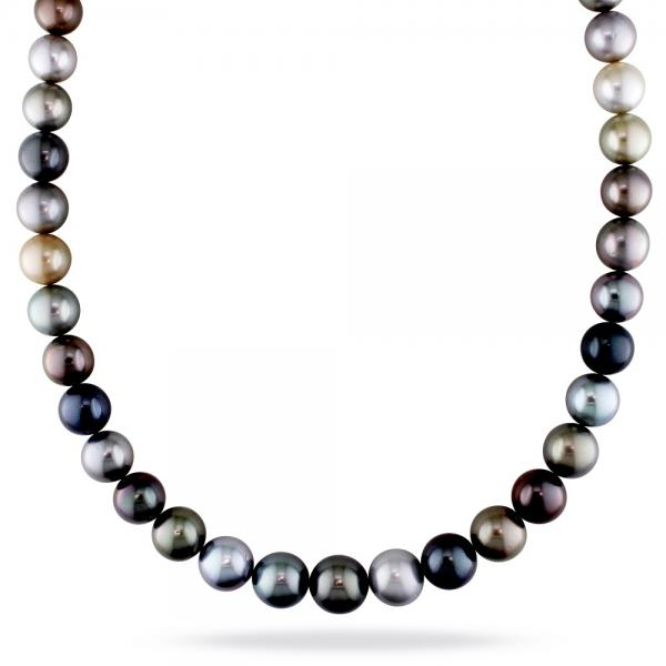 "South Sea & Tahitian Cultured Pearl Strand Necklace 18"" 10-12.5mm"
