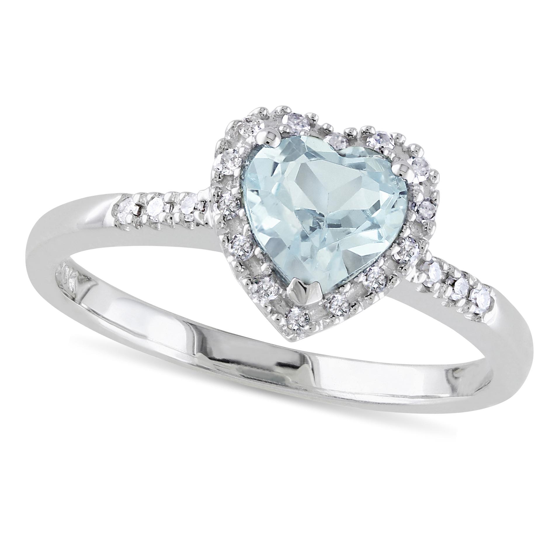 aquamarine fashion ring sterling silver 0 73ct