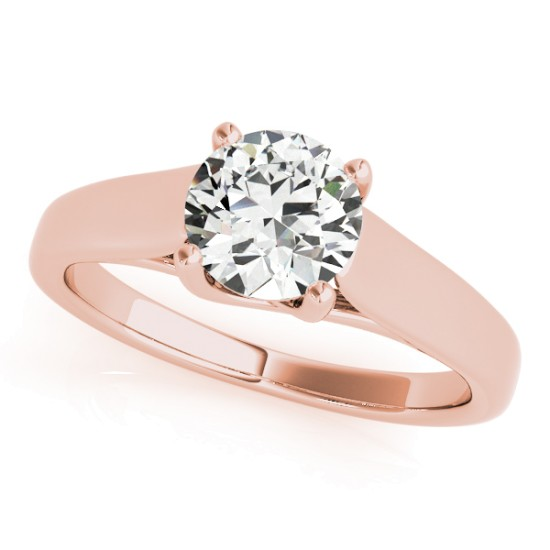 Diamond Solitaire Engagement Ring 14k Rose Gold (1.00ct)