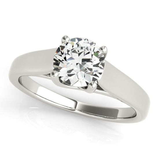 Diamond Solitaire Engagement Ring 18k White Gold (1.00ct)