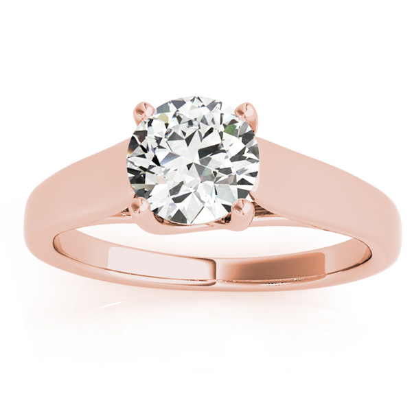 Lucida Solitaire Cathedral Engagement Ring 14k Rose Gold