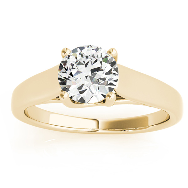 Lucida Solitaire Cathedral Engagement Ring 18k Yellow Gold