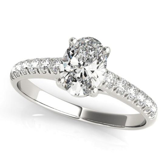 Oval Cut Diamond Engagement Ring Palladium (1.00ct)