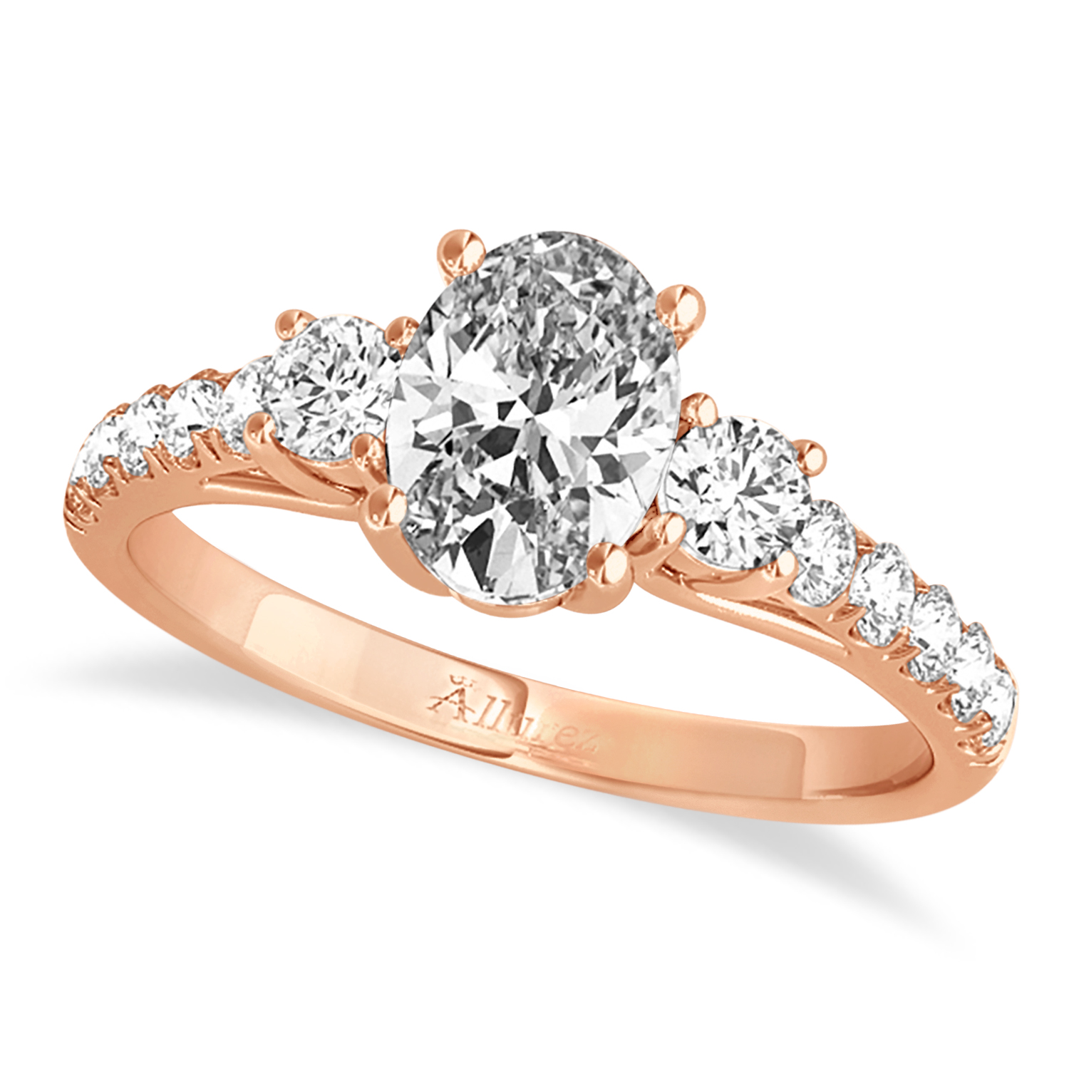 Oval Cut Diamond Engagement Ring 14k Rose Gold (1.40ct)
