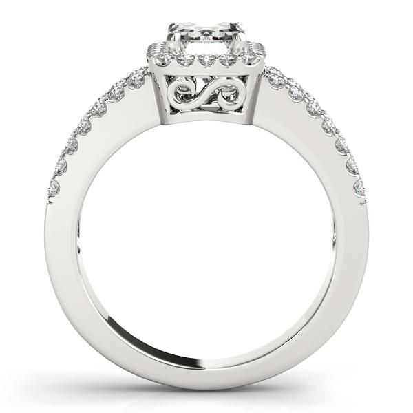 Emerald Cut Diamond Engagement Ring, Split Shank Platinum 1.52ct