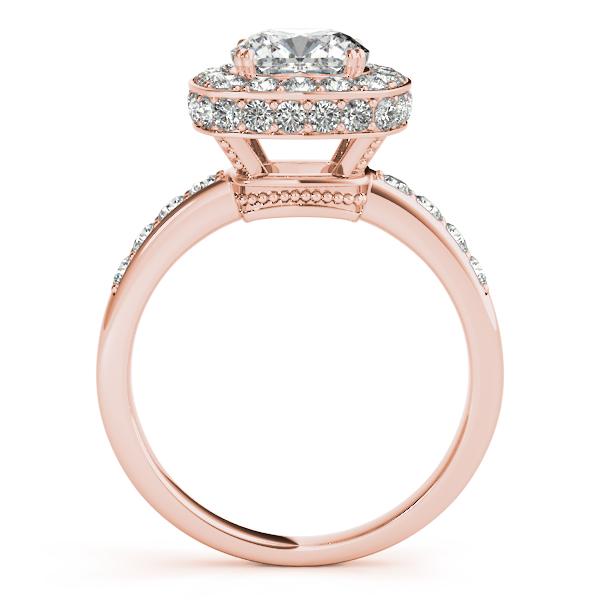 Cushion Cut Halo Diamond Engagement Ring 14k Rose Gold 1 34ct
