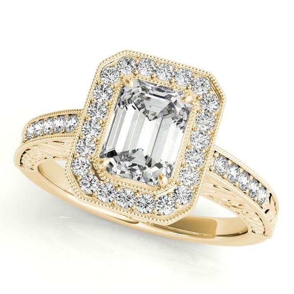 Antique Emerald Cut Diamond Engagement Ring 14k Yellow Gold (1.80ct)