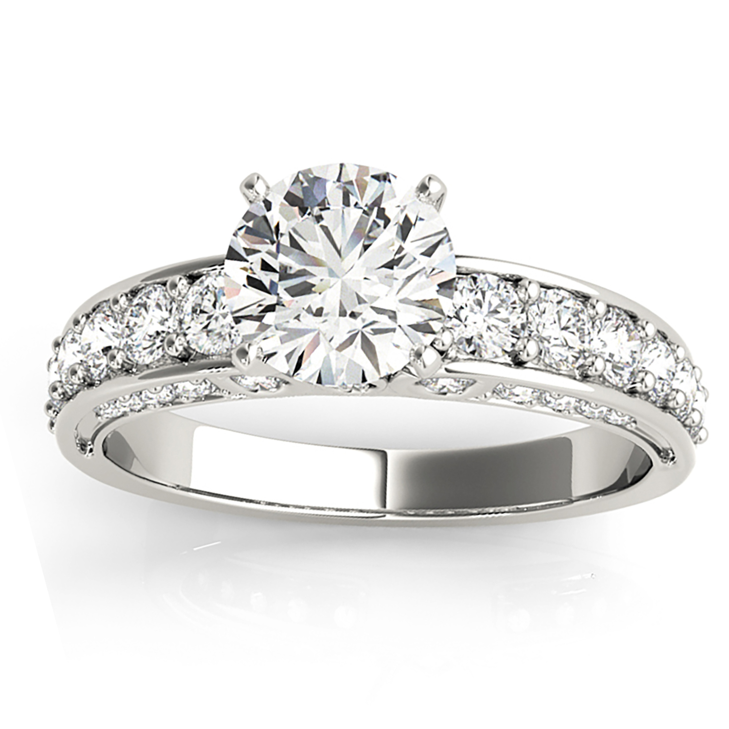 Multi-Row Diamond Engagement Ring Setting (0.50ct