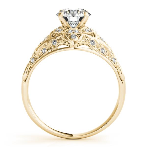 Art Deco Unique Diamond Wedding Ring 14k Two Tone Gold: Vintage Art Deco Diamond Engagement Ring Setting 18k